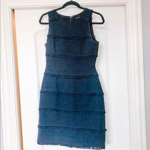 Navy tweed dress